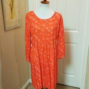 Old Navy, XL, orange/white, rayon dress